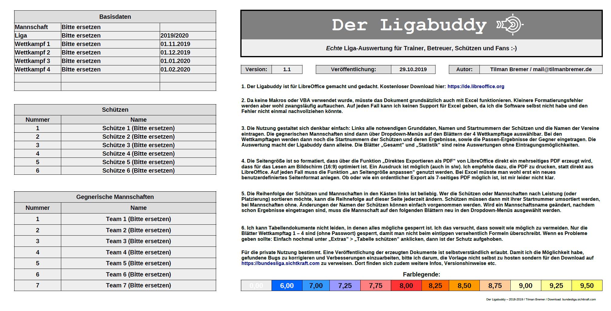 Ligabuddy Version 1.1 mit Bugfix für LibreOffice Version 6.1 und höher
